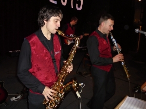 Ples SPgŠ 16. 1. 2015 - Ondra a Libor - dechová sekce