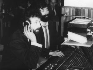1988 - zvukaři Jirka Vodehnal a Honza Kadlec