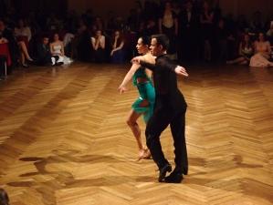 Taneční ukázky tančí Bohdan Meduna a Alina Kozar