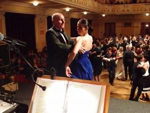 Taneční mistr Aleš Novák s dcerou Klárou